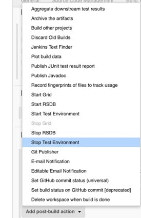 stop test environment